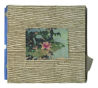 Lotus Book, cover Polaroid transfer/mixed media