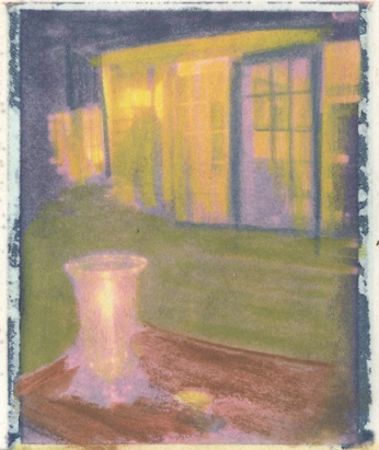 Amagansett Interior Polaroid transfer/oil pastel