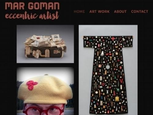 Branding and web site design for a local multi-media artist. Visit  margomanartist.com