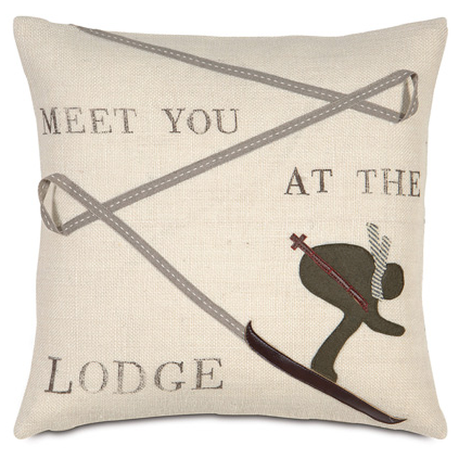 Meet You at the Lodge Pillow  $95