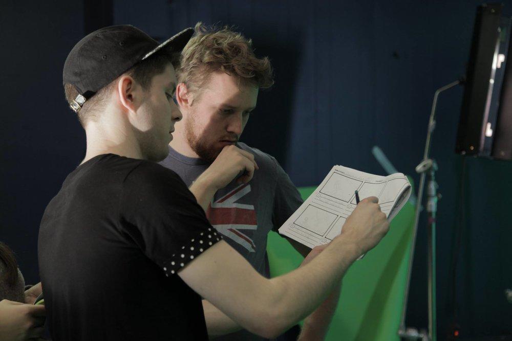 "On set shooting Evan Grave's VFX heavy film, ""Elvish Blades""."