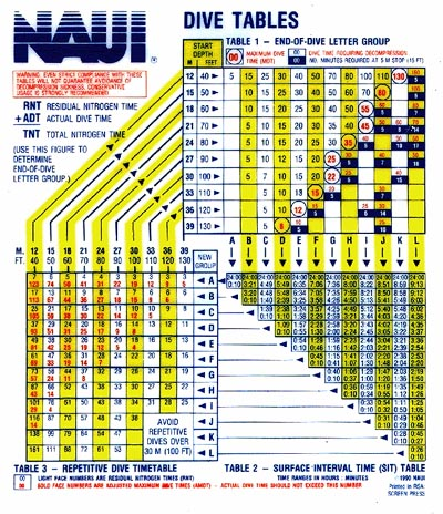 1980 NAUI Creates The Pro Facility Program Offering Recognition And Service  To Professional Diving Facilities. 1981 The NAUI Dive Tables Are Introduced.