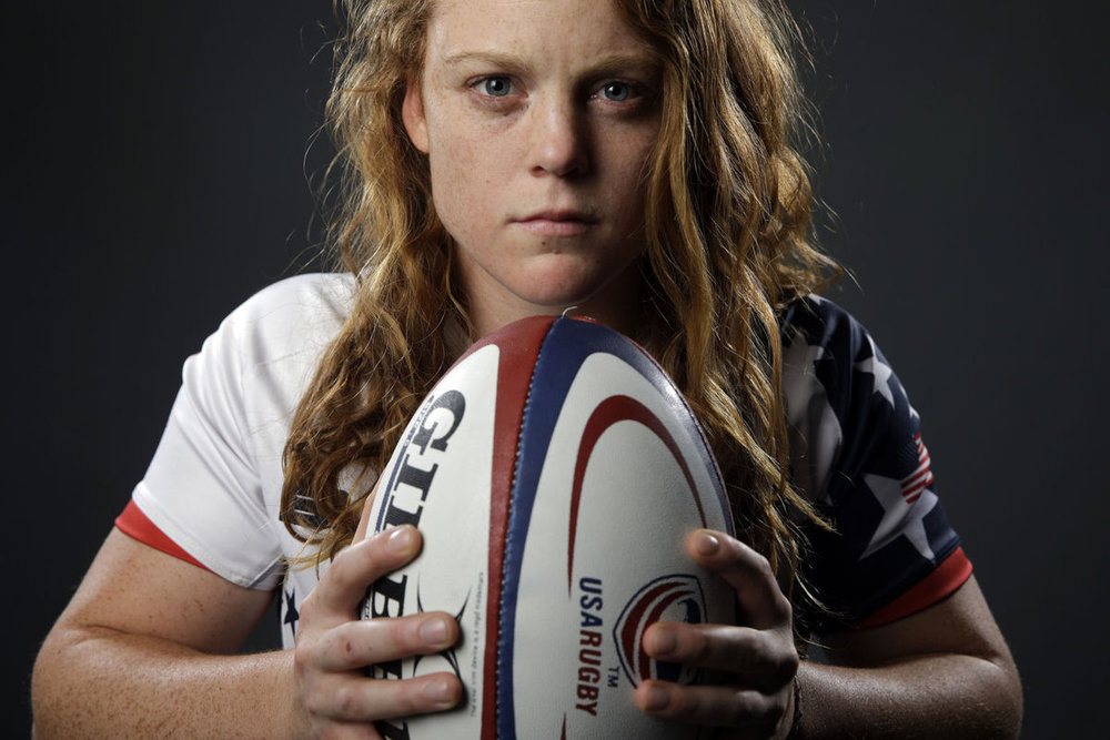 Leyla Alev Kelter is a multifaceted athlete who broke into the sport of rugby after completing a dual- sport NCAA career. She brings a truly diverse background to the table, making her a force to be reckoned with on the rugby pitch.   Alev, as she is known to family and friends, was born at MacDill Air Force Base, Florida, March 21st 1991. In her younger years, she had to opportunity to travel throughout the world as a military dependent. At age 8, her family settled in Eagle River Alaska, where her talents propelled her to elite status on several U.S. national teams. She is the daughter of USAF Lt. Col. Scott and Mrs. Leyla Kelter. She has three siblings- older brother USAF Capt. Erol Kelter, twin sister Derya Kelter, and younger brother Aydin Kelter.  At age 14, she became the first girl from the state of Alaska to ever be selected to the U.S. Soccer under-14 Olympic Development program national training camp and Girls National Team. She continued to play in the women's national player pool through the under-22 level, playing internationally in Costa Rica, England, and Germany. She led her high school soccer team to a state championship as the leagues leading scorer and was selected to the state All Tournament Team.  Alev was selected to U.S.A. Hockey Women's under-18 team, where she won gold against Canada in 2008 at the inaugural IIHF (International Ice Hockey Federation) Women's World Championships in Calgary. In 2009 Alev captained the U.S. under-18 team to a second IIHF World  Championship gold medal win over Canada in Fussen, Germany. Alev was awarded MVP Top Defender for the IIHF World Championship, and tied for the highest plus-minus rating for the tournament. As captain of the gold medal team, Alev accepted the Bob Johnson Award at the Olympic Training Center in Colorado Springs, Colorado, in recognition of excellence in international ice hockey competition. She was later selected to the U.S.A. Hockey under-22 U.S. women's hockey player pool.  In her home