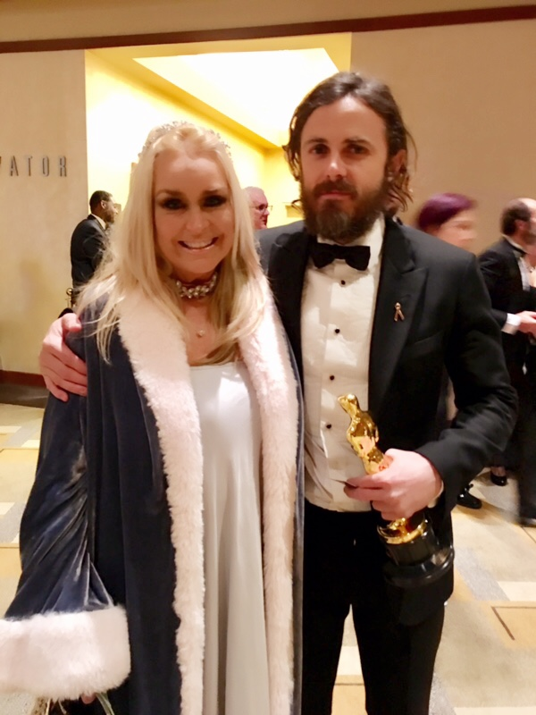 Actress Catherine Hickland with Casey Affleck