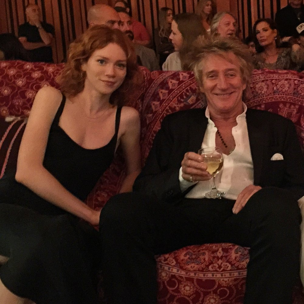Camille Cregan and Rod Stewart