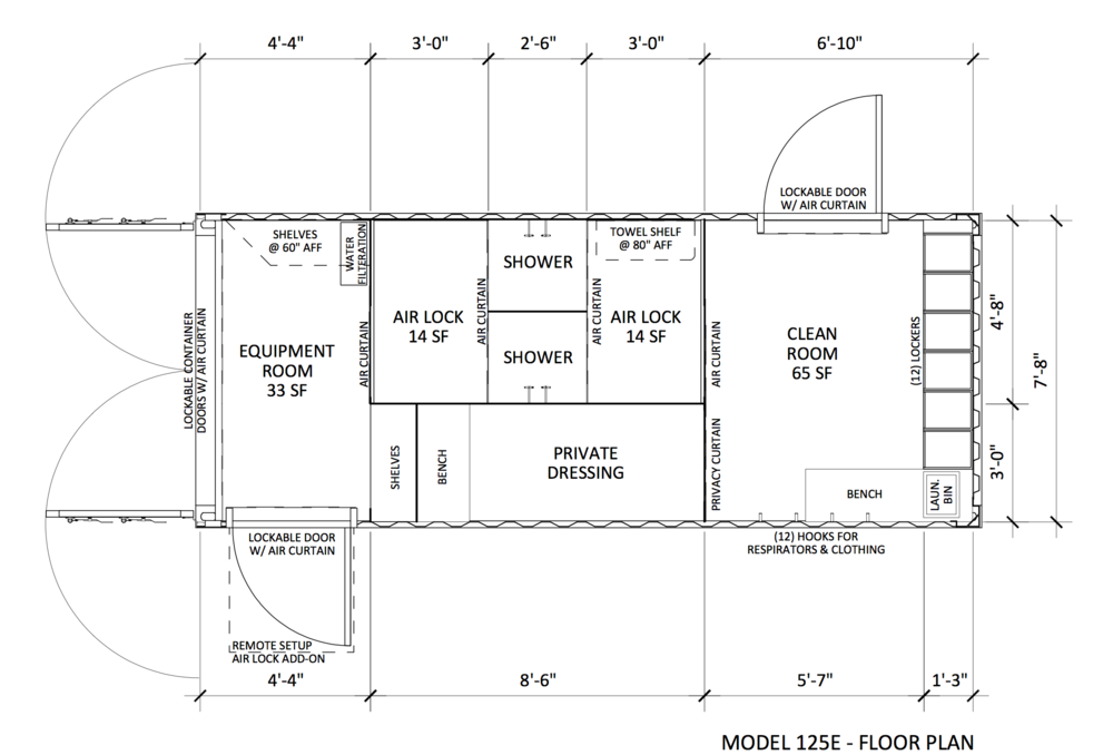 CLEANspace by qüb9 125E Floor Plan