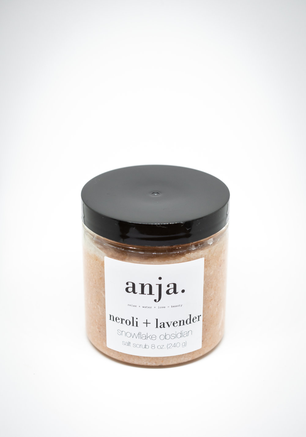 neroli + lavender snowflake obsidean salt scrub $30
