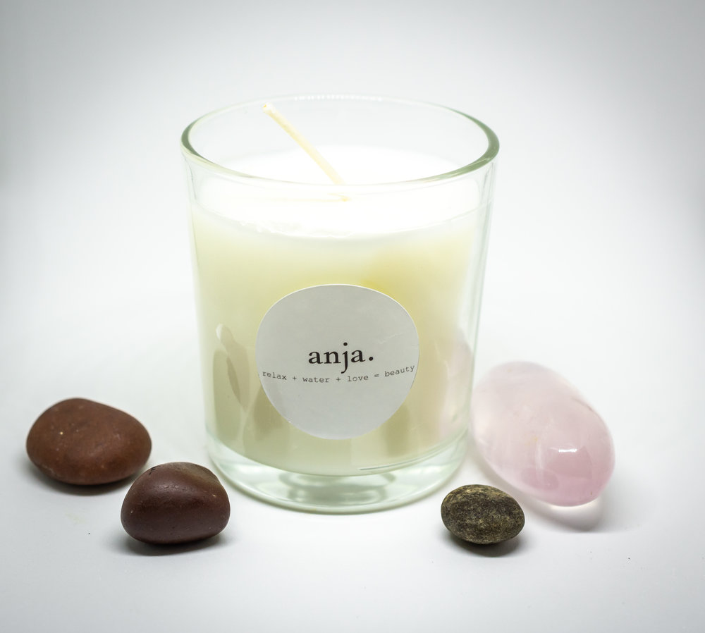 pine vanillay soy candle