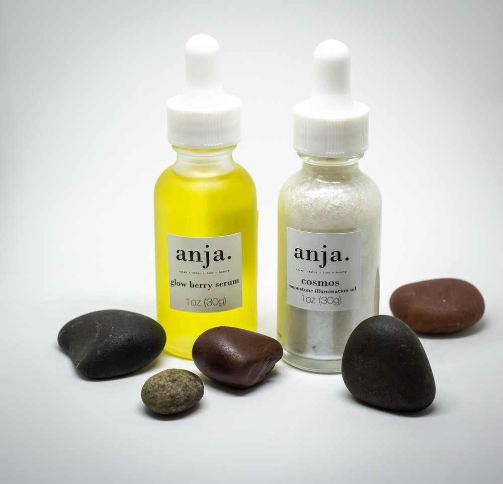skincare products by anja small batch, handmade, high-end Lotions + Potions =♡