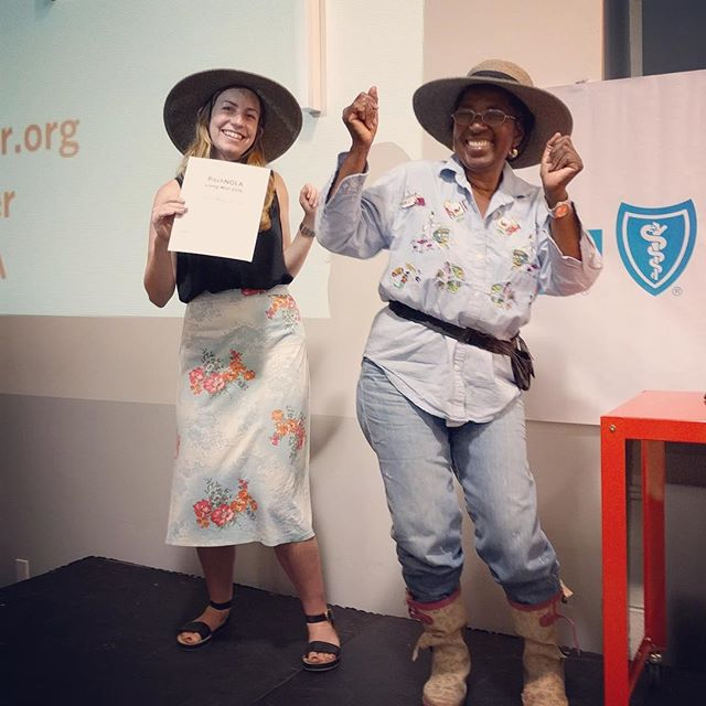 Bustin' a move after we won @gopropeller's pitch competition tonight!! We're feeling hugely honored and grateful to be selected amongst so many incredible competitors.