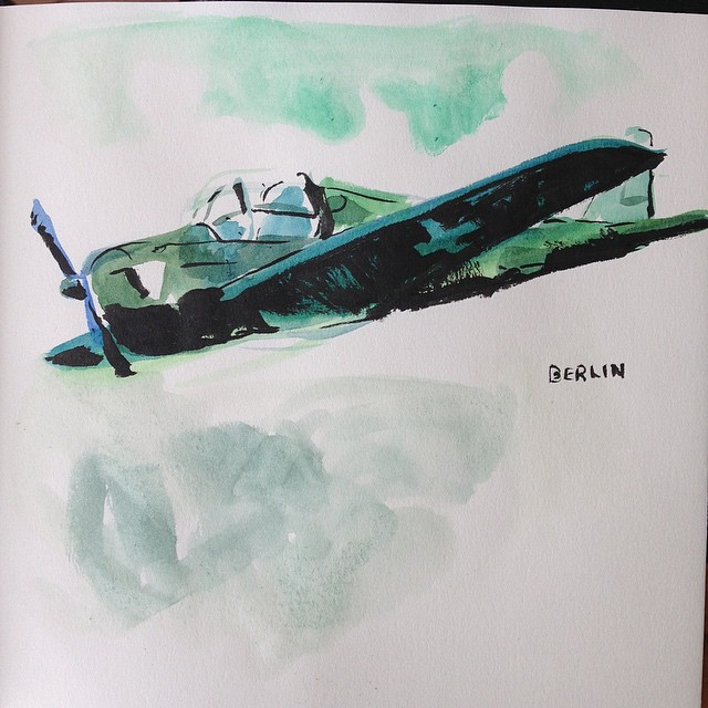 And here is a small watercolor sketch I did at the Technical Museum of Berlin.