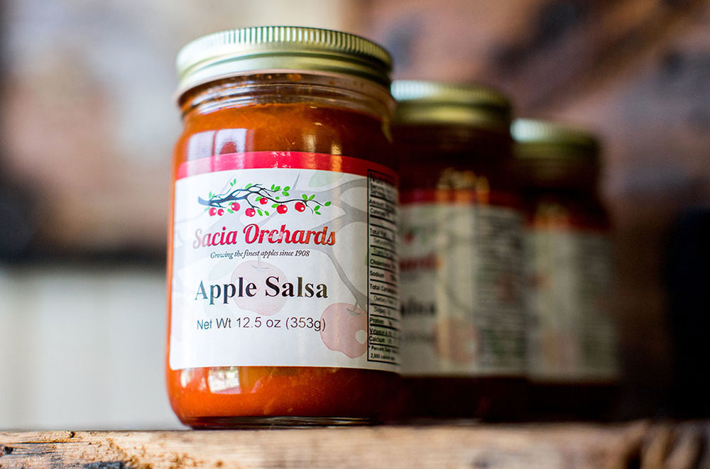 Sacia Orchards Apple Salsa - A perfect balance of sweet and spice, made with a special blend of Sacia Orchards apples. A local favorite.