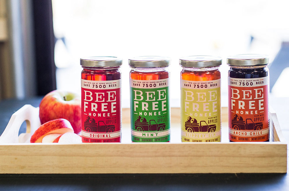 Bee-Free Honee - Made from apples, Bee Free Honee® is 100% plant-based, made from certified organic apples that have been juiced and concentrated with a bit of non-GMO, vegan quality, carbon-neutral, cane sugar and fresh lemon juice.
