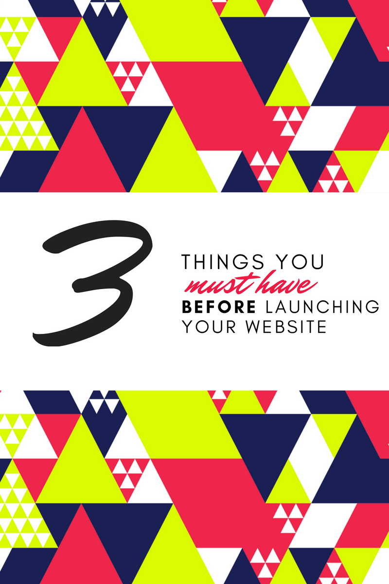 Three Things You MUST Have Before Launching Your Website - Home Sweet Hyatt Studios | Cleveland Squarespace Web Designer
