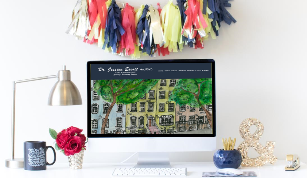 Squarespace Website Design | Home Sweet Hyatt Studios | Dr. Jessica Escott