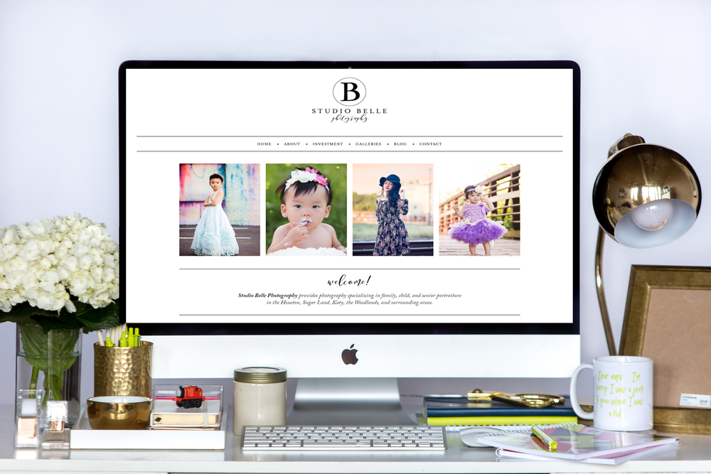 Studio Belle Photography is LIVE+ LAUNCHED on Squarespace! | Home Sweet Hyatt Studios