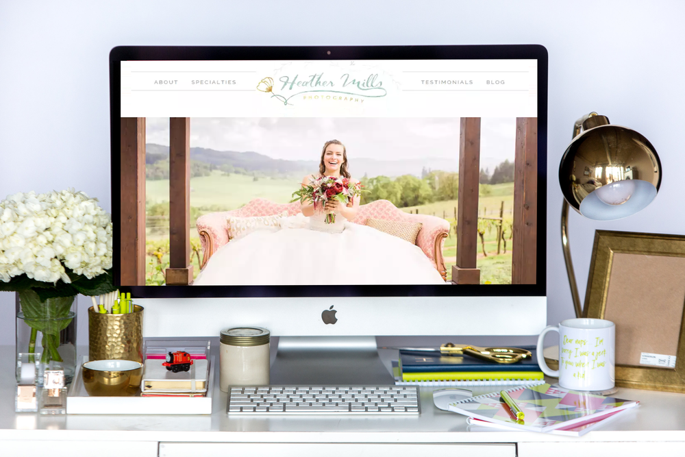 Heather Mills is LIVE and LAUNCHED on Squarespace | Home Sweet Hyatt Studios