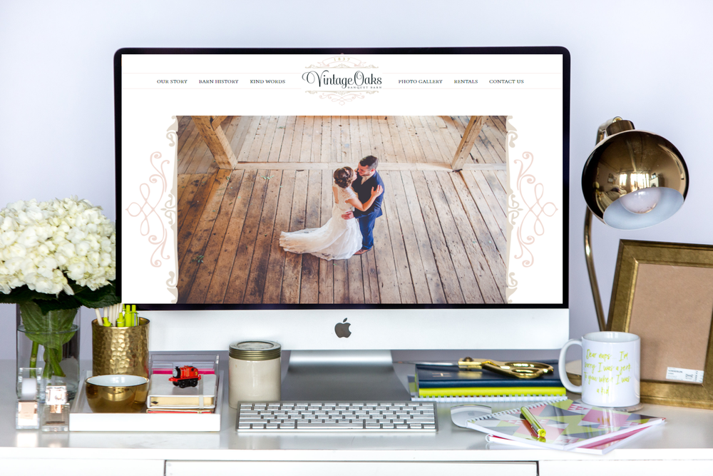 Vintage Oaks Banquet Barn | New Squarespace Website Launch!