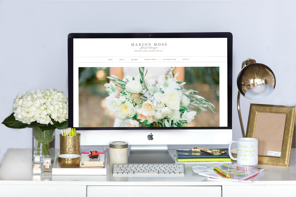 Marion Moss Floral Design | New Squarespace Website Launch!