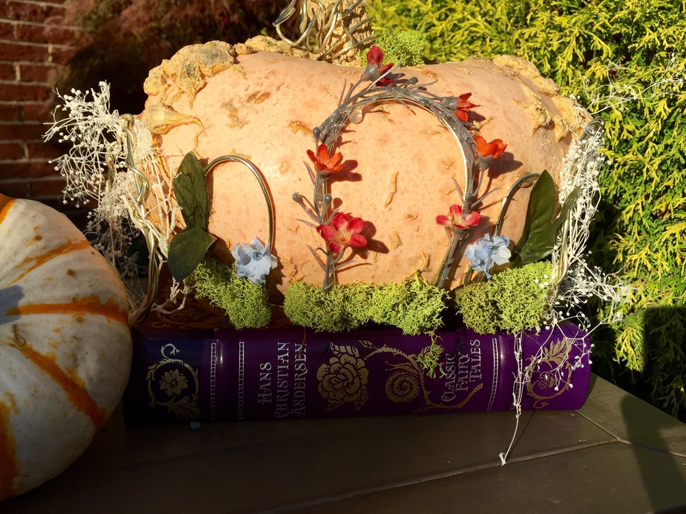 blue bells & a once upon a time pumpkin