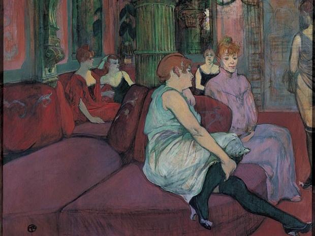 Henri de Toulouse-Lautrec, Au salon de la rue des Moulins, 1894