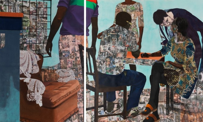 Njideka Akunyili Crosby, I Always Face You, Even When It Seems Otherwise, 2012