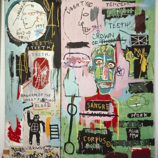 Jean-Michel Basquiat, In Italian, 1983