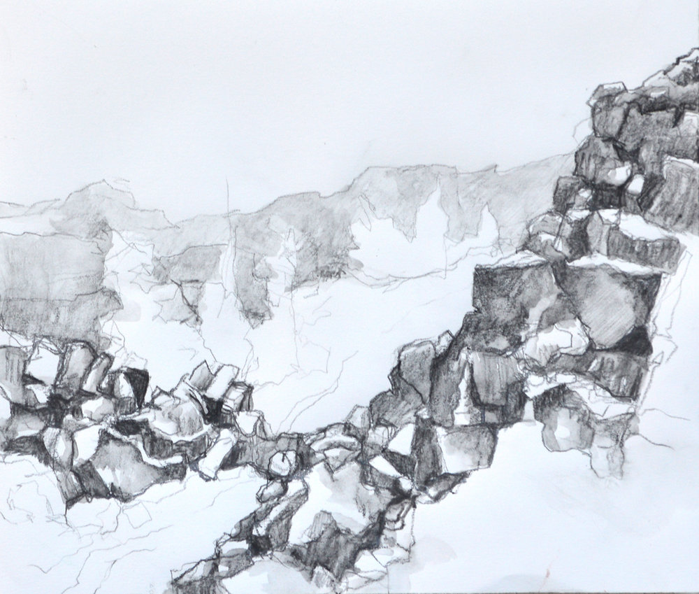Þingvellir National Park: first drawing