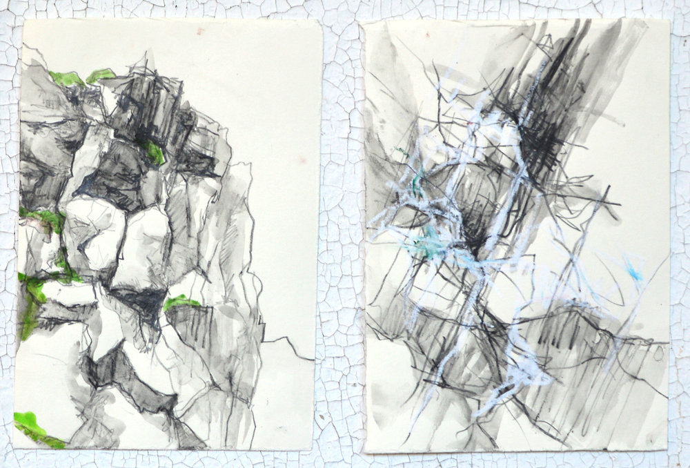 Þingvellir National Park: observational and abstract drawings
