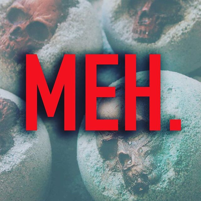 "More bombs up and I'm offering a few discounted ones under the ""Meh."" Listing! Same weight, scent and color, just maybe a couple bumps and bruises. 🖤💀🖤 #bathbomb #bathbombs #skull #lush #gothgoth #vegan"