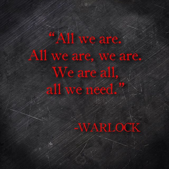 Let's start the week off right with a little existentialism from Warlock. #metalvationalmonday #warlock #heavymetal