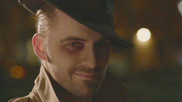 @michael_d_axtell looking super suave as Trevor in #TheShortGoodbye 🕵🏻 The color in this #still is too gorgeous to convert it to b&w! Great job @janne_ebel 👏🏻 #bokeh #noir #film #shortfilm #indiefilm #filmmaking #editor #editing #oldschoolcool #sony #fs7 #lighting #fedora