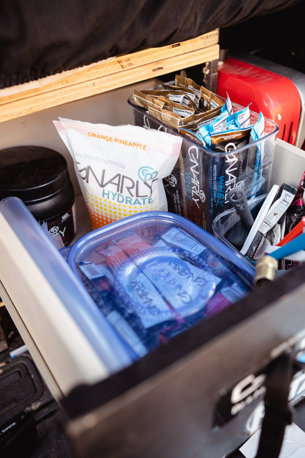 The IKEA drawer… Stuffed with my favorite nutrition brand!