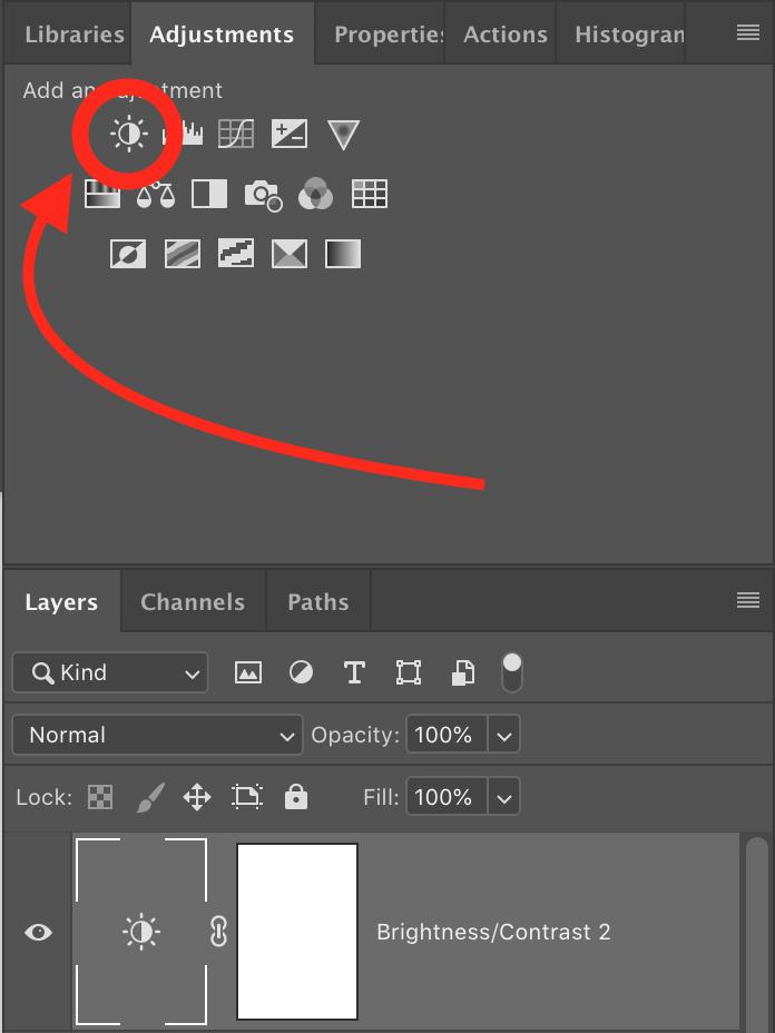 Brightness adjustment layer