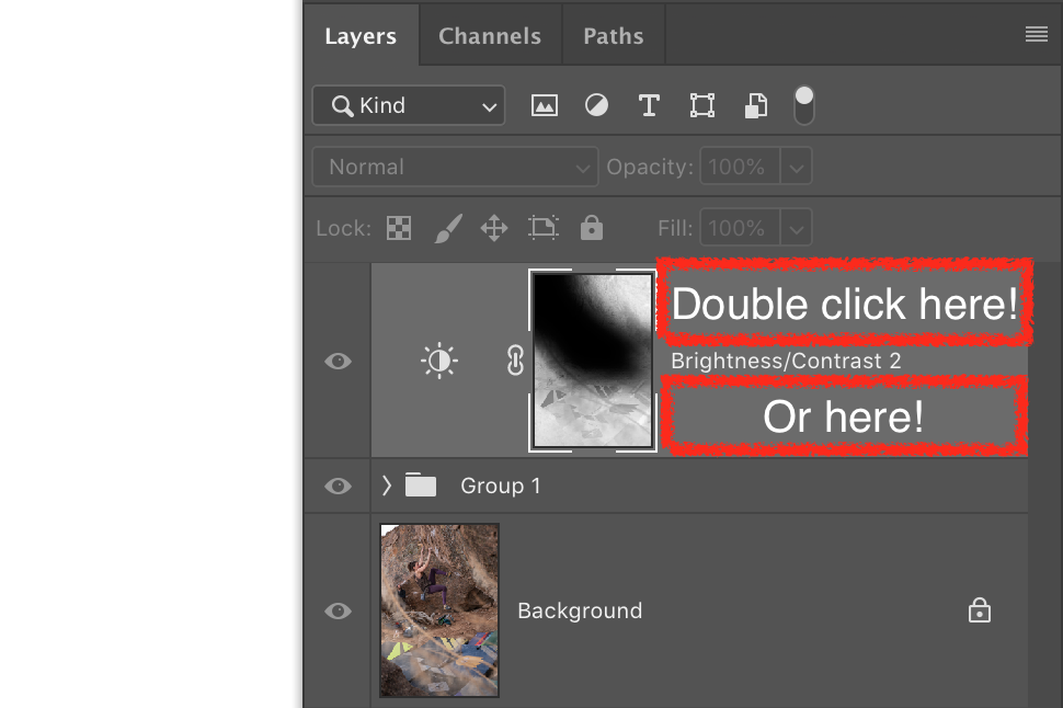 Double click to open Layer Style menu