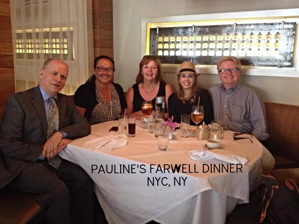 PAULINE'S FAREWELL DINNER- NYC