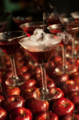 """Santa in the Clouds"" martini from Feastivities Events"