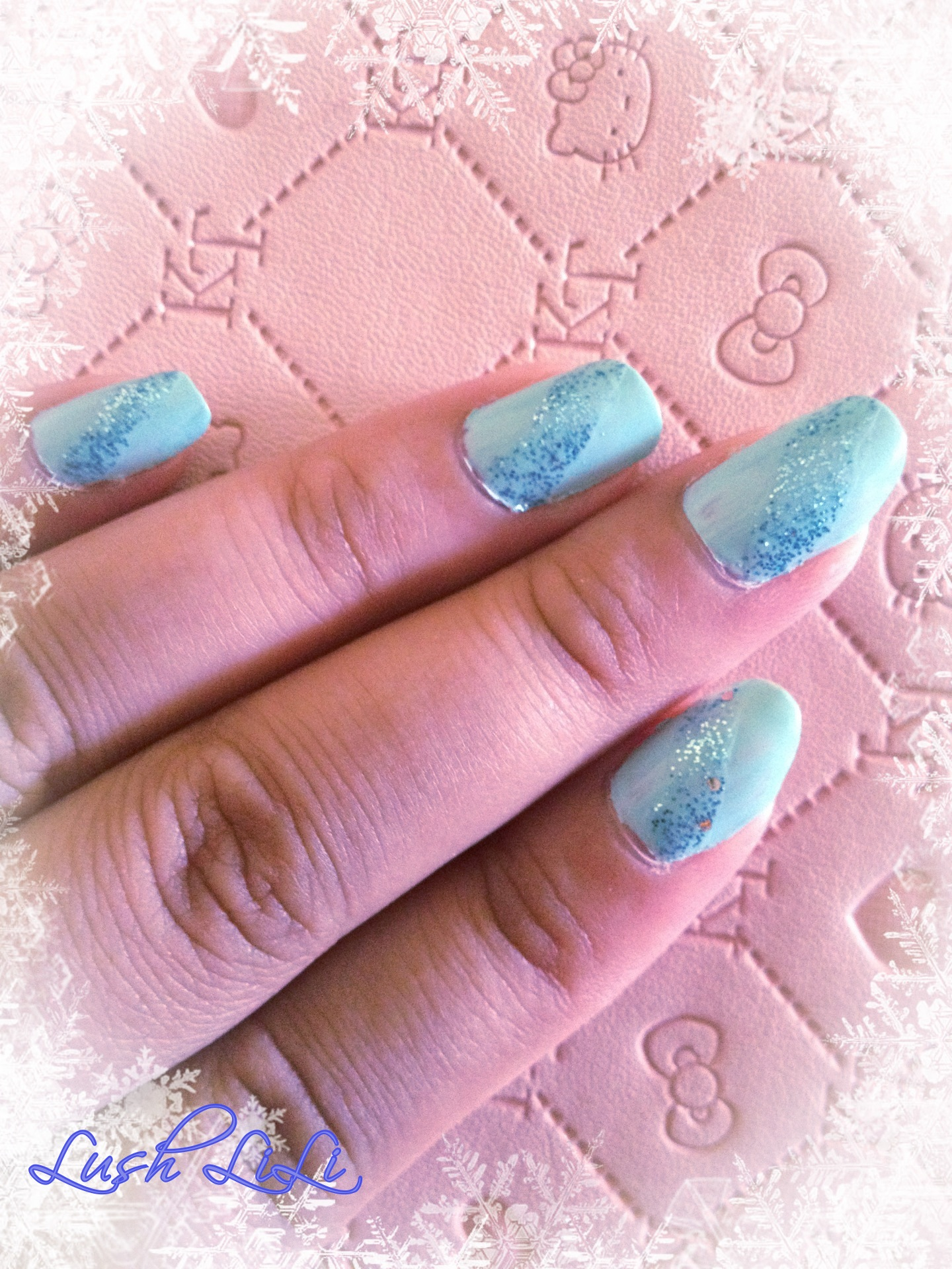 Blue Bayou is a light blue glitter nail polish with few bits of silver chunky glitter parts in it. You do have to paint quite a few coats in order to get ...