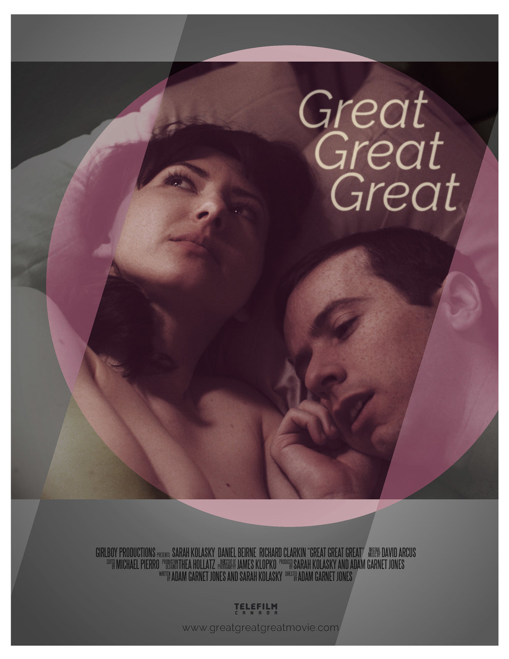 Sarah Kolasky, Adam Garnet Jones, Great Great Great, Dan Beirne, Official poster