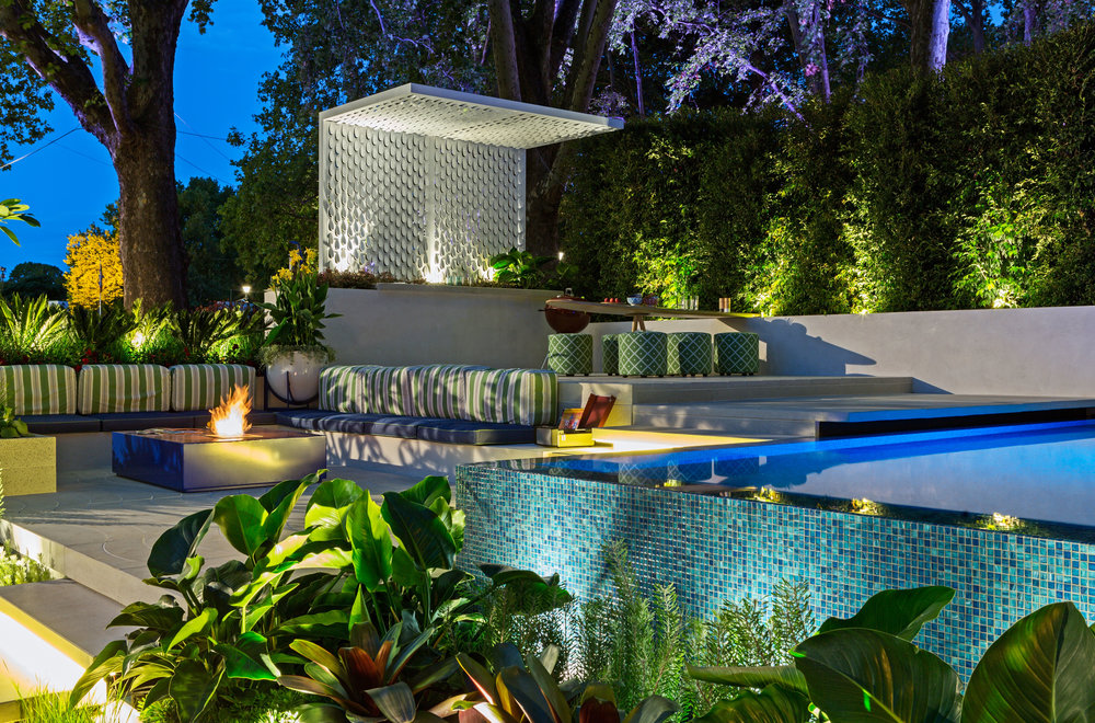 Garden Lighting by The Electric Crew for award winning 'Ohana' Garden at MIFGS 2015