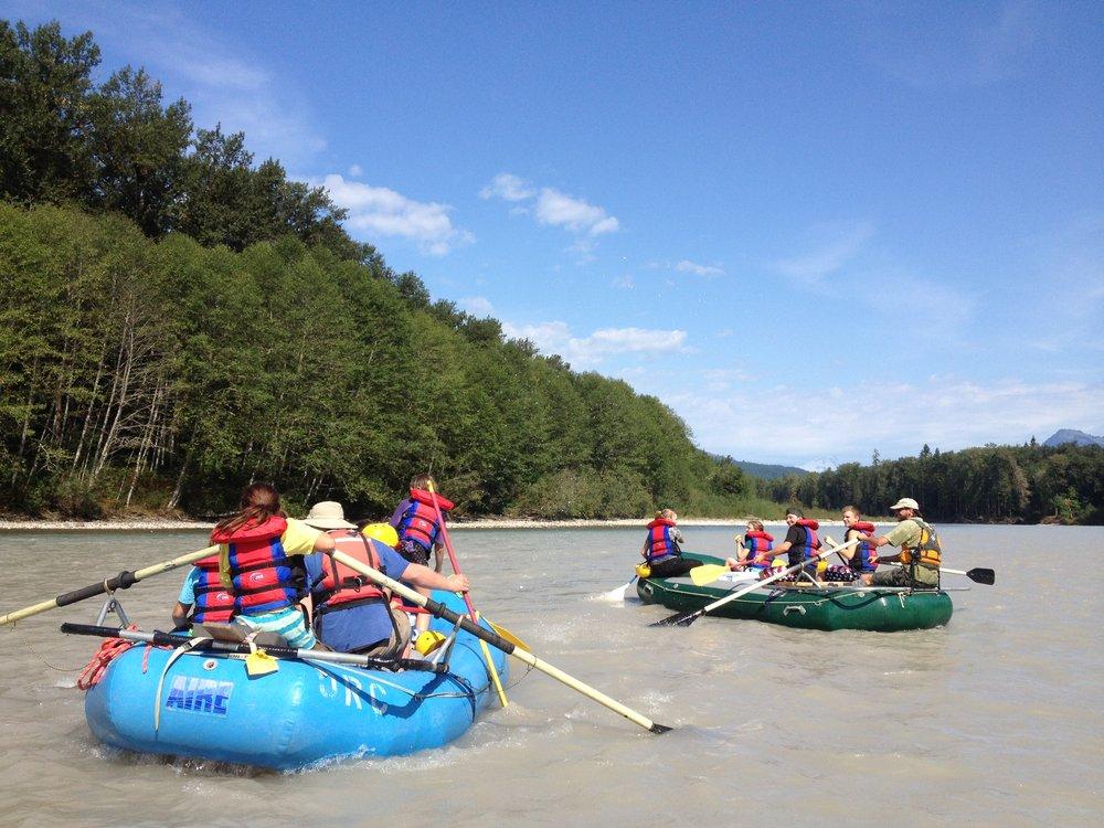 Rafting on the Sauk River.