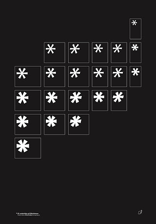 A typographic family of white snowflakes, by The Chase