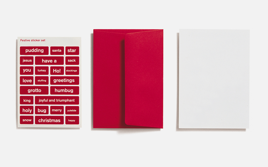 Design your own Christmas card with stickers and blank card by NB Studio