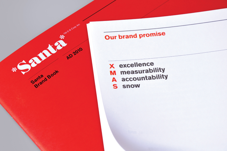 Santa finally gets Brand Guidelines from Alphabetical2010