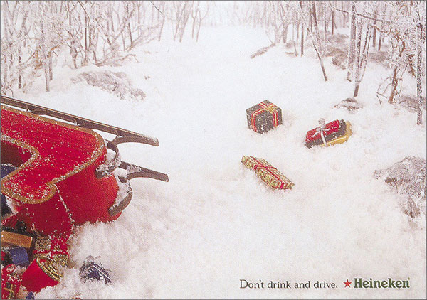 A serious Christmas greeting from Heineken