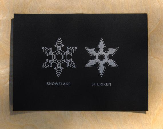 A Christmas card for ninjas?