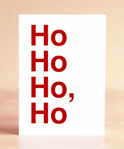 The comma makes the message a less than jolly joke, by Sad Shop