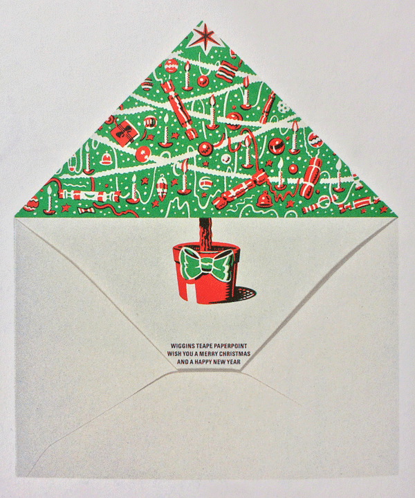 Paper Company Wiggins Teape get a Christmas envelope by The Partners 1985