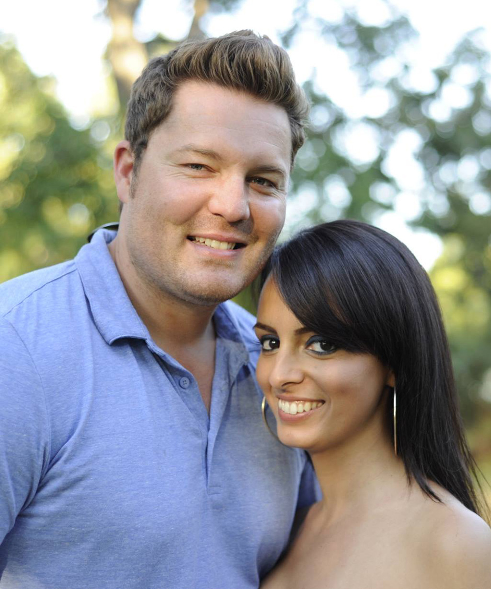 CEO, Aaron Farley with his wife