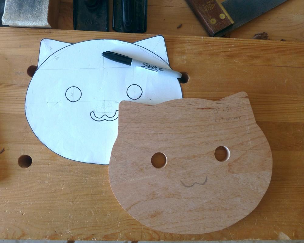 Probando pototipos. / Making prototypes.